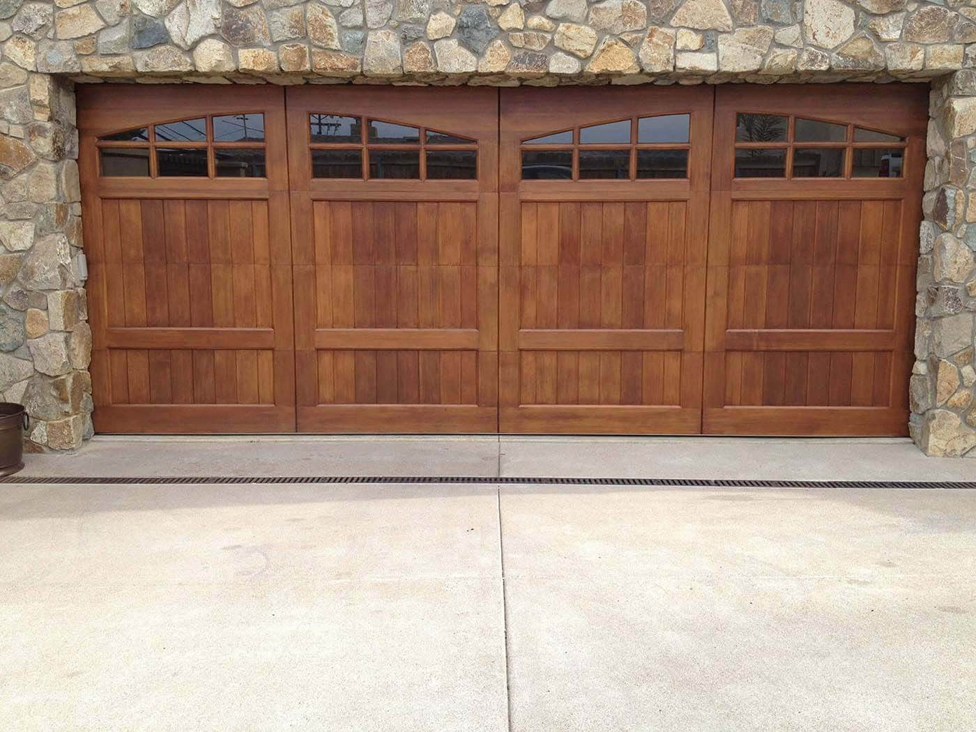 Custom wood garage doors encinitas ca castle improvements for 2 door garage door