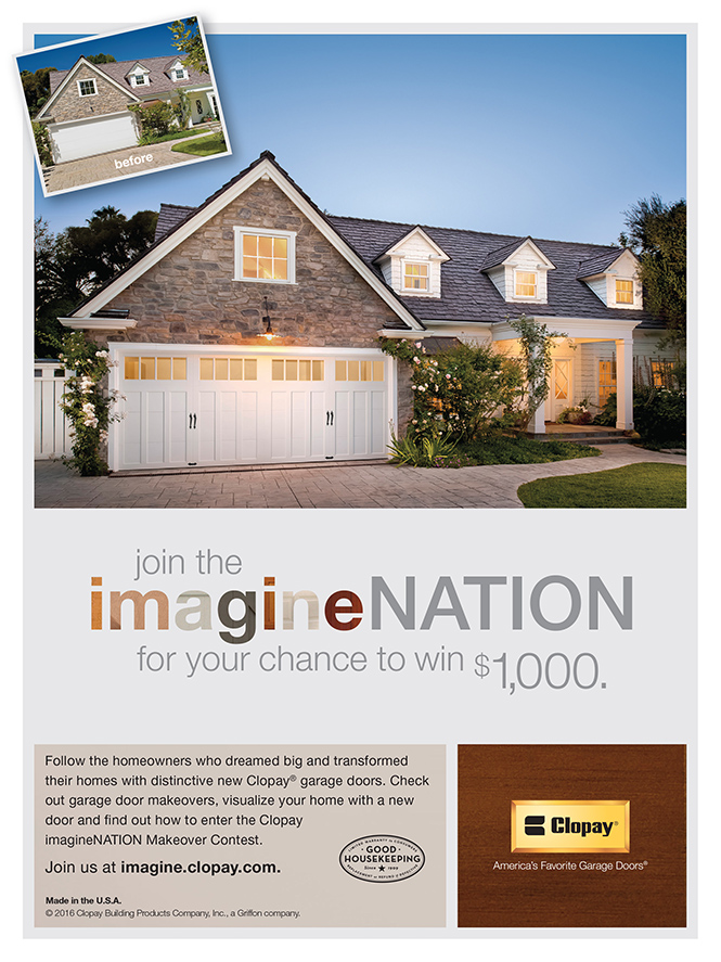 Clopay 39 s imaginenation makeover contest castle improvements for Garage appeal coupon code